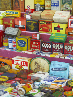 Display of wartime goods