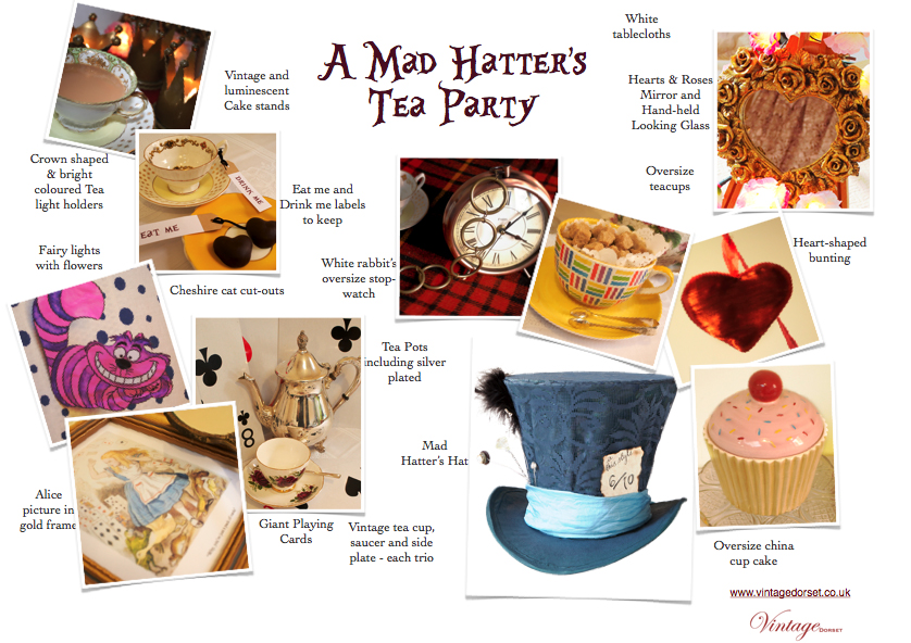 Mad Hatters Party props