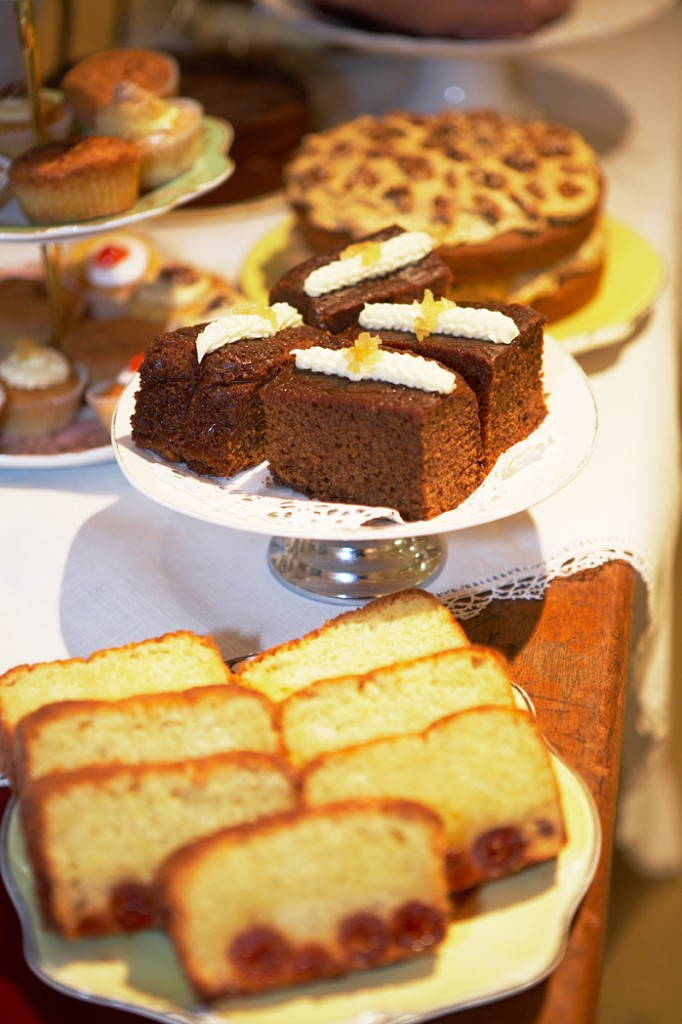 A display of Vintage Dorset Cakes