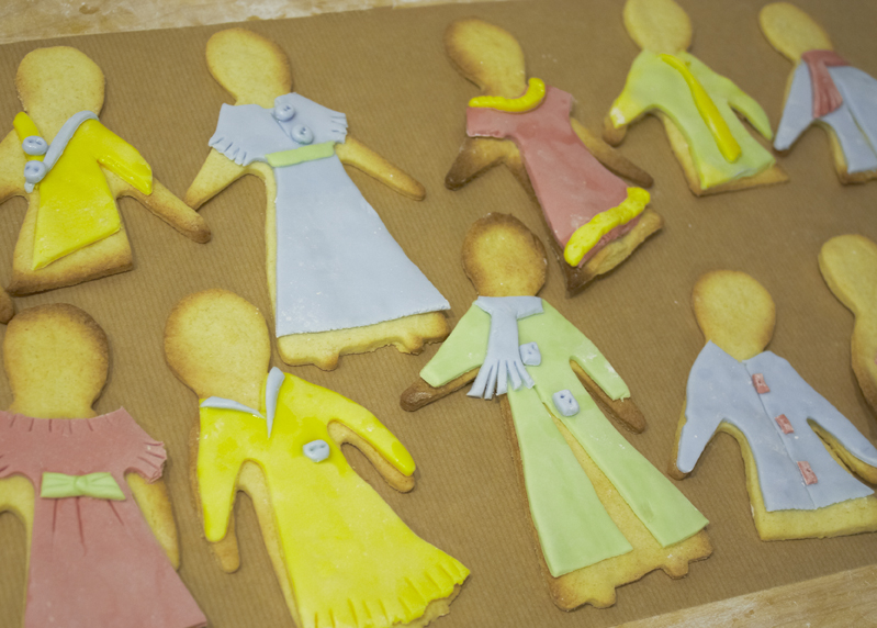 Biscuits shaped like frocks