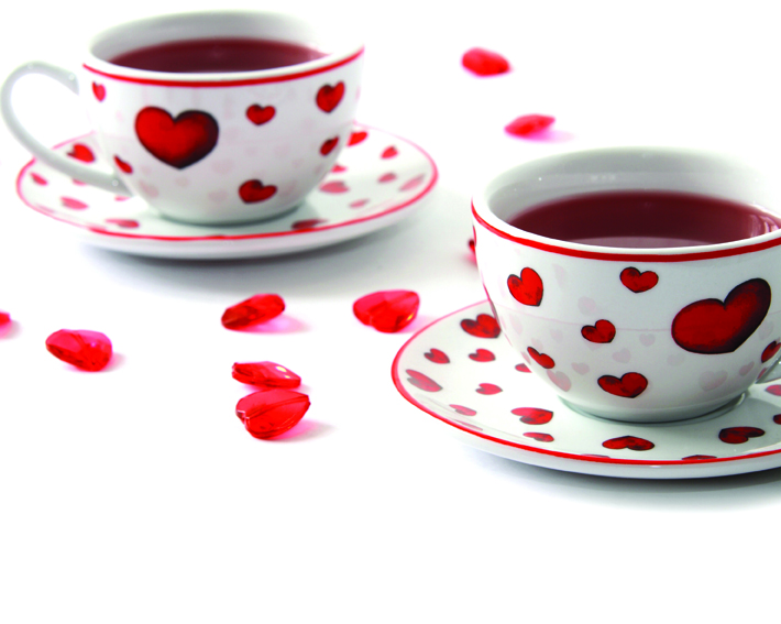 Make Time for Tea appeal teacups with hearts