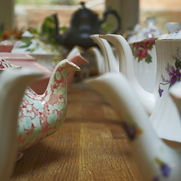 vintage teapot spouts
