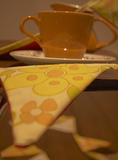 retro bunting and teacup