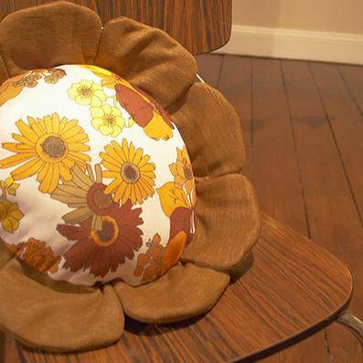 retro cushion on formica chair