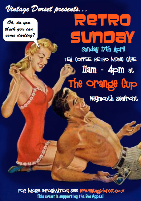 A poster advertising the event Retro Sunday
