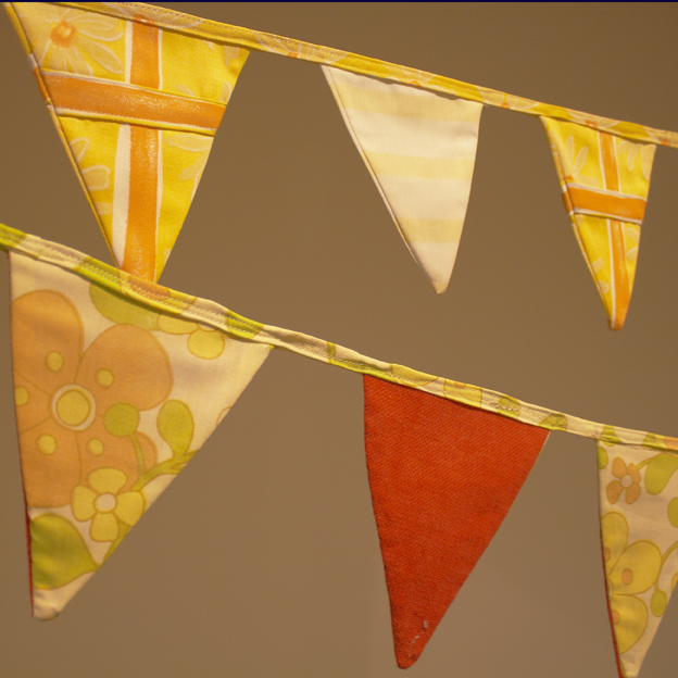 retro styled bunting