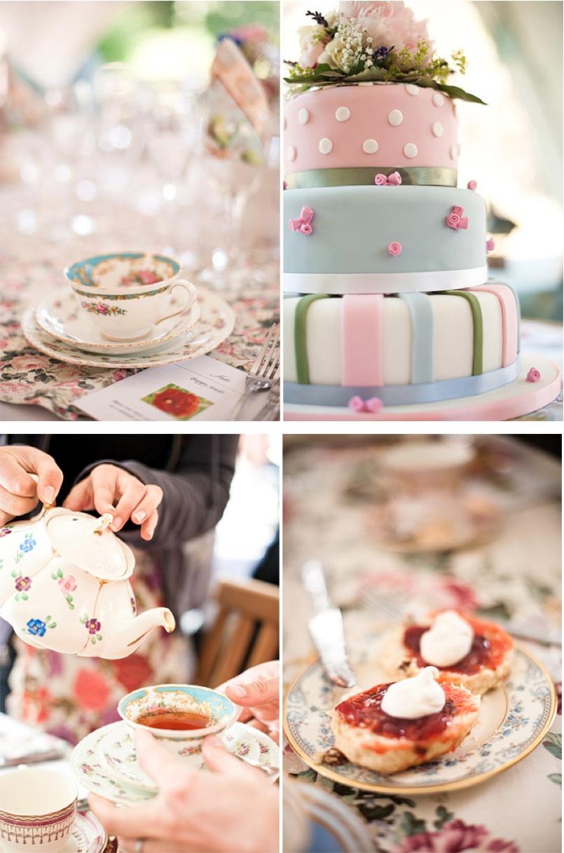 vintage tea and cake