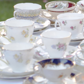 vintage teacups for parties