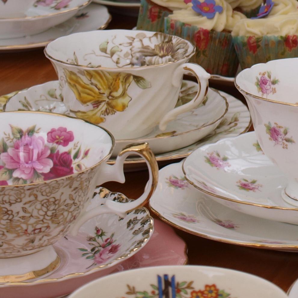 vintage dorset tea cups