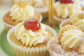 fairy cake with cherry