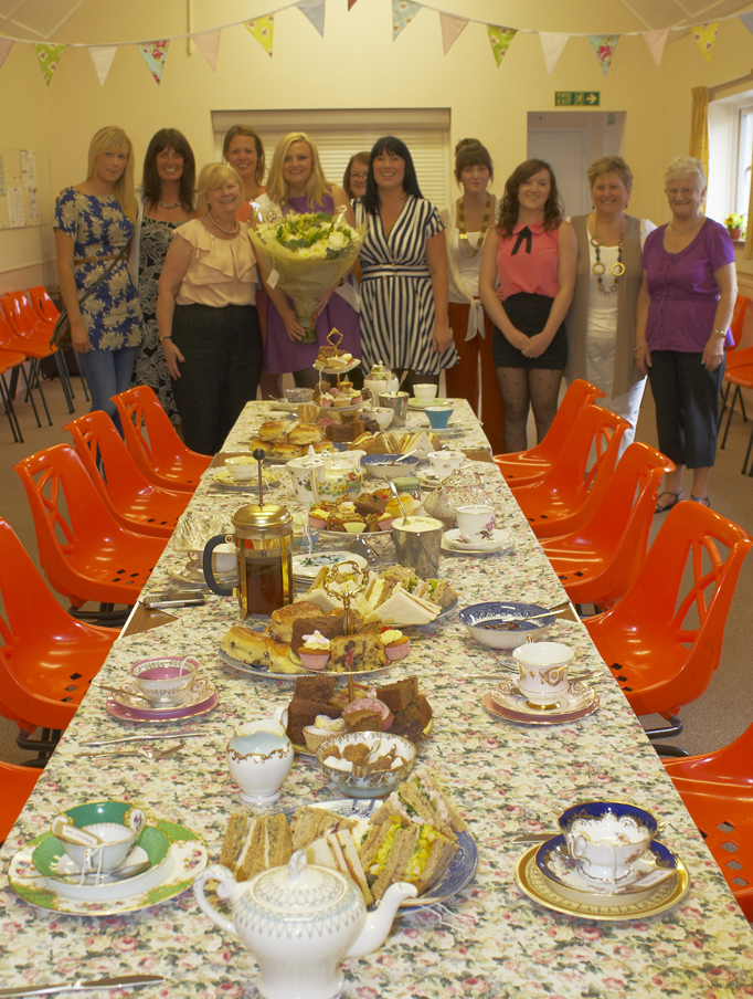 Ladies ready for afternoon tea