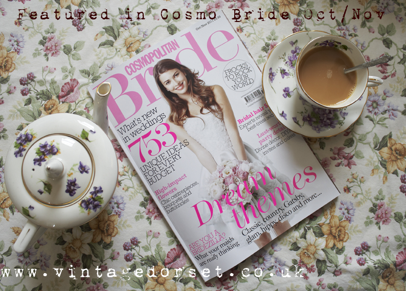 Cosmo Bride Magazine with tea