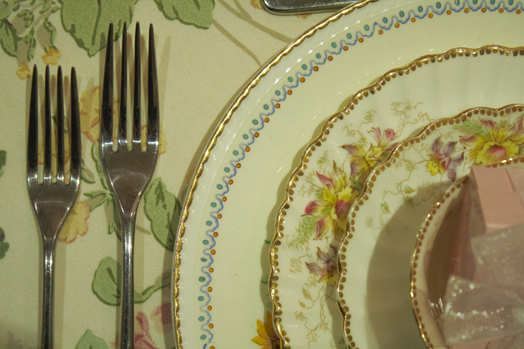Vintage Dorset China Hire table setting