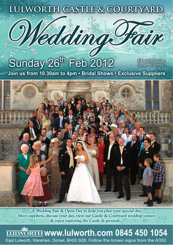 lulworth castle dorset wedding fair 2012