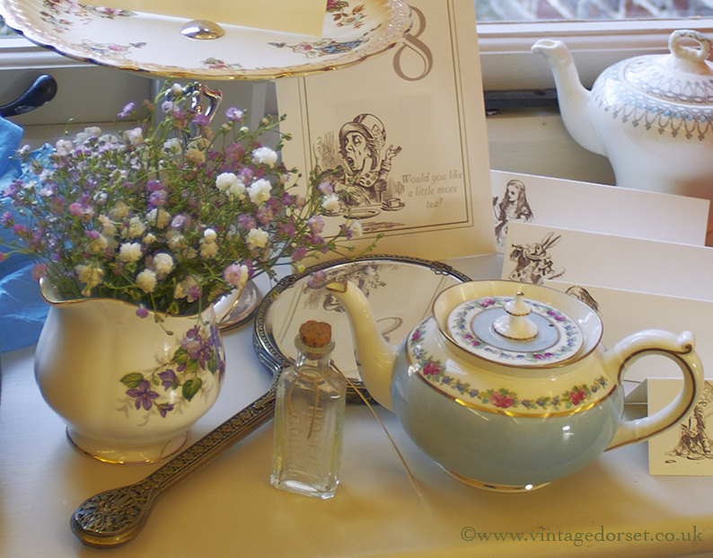 Mad Hatter wedding items ©vintage dorset