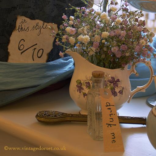 alice in wonderland props for a vintage wedding