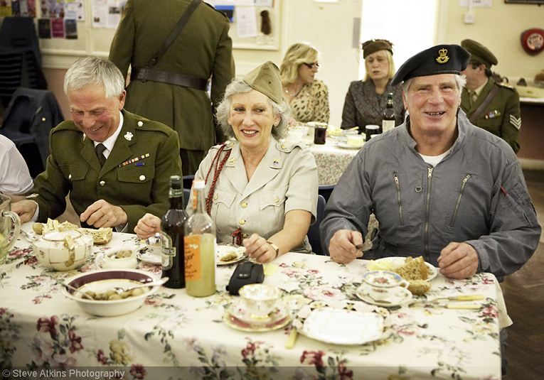 guests tuck in at the Vintage Dorset Blitz party