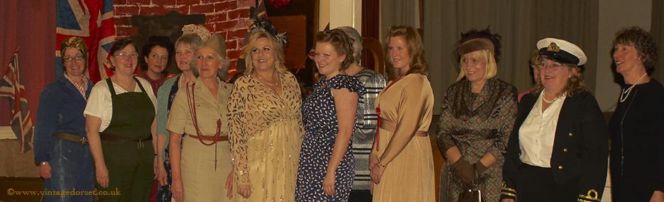 Ladies line up