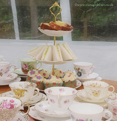 Vintage Dorset afternoon tea