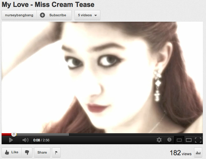 Miss Cream Tease youtube