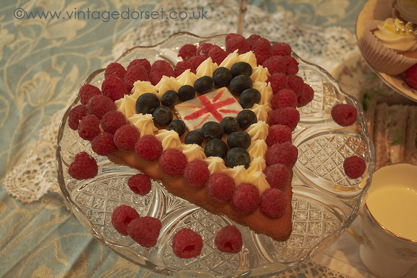 Jubilee Cake in red white and blue