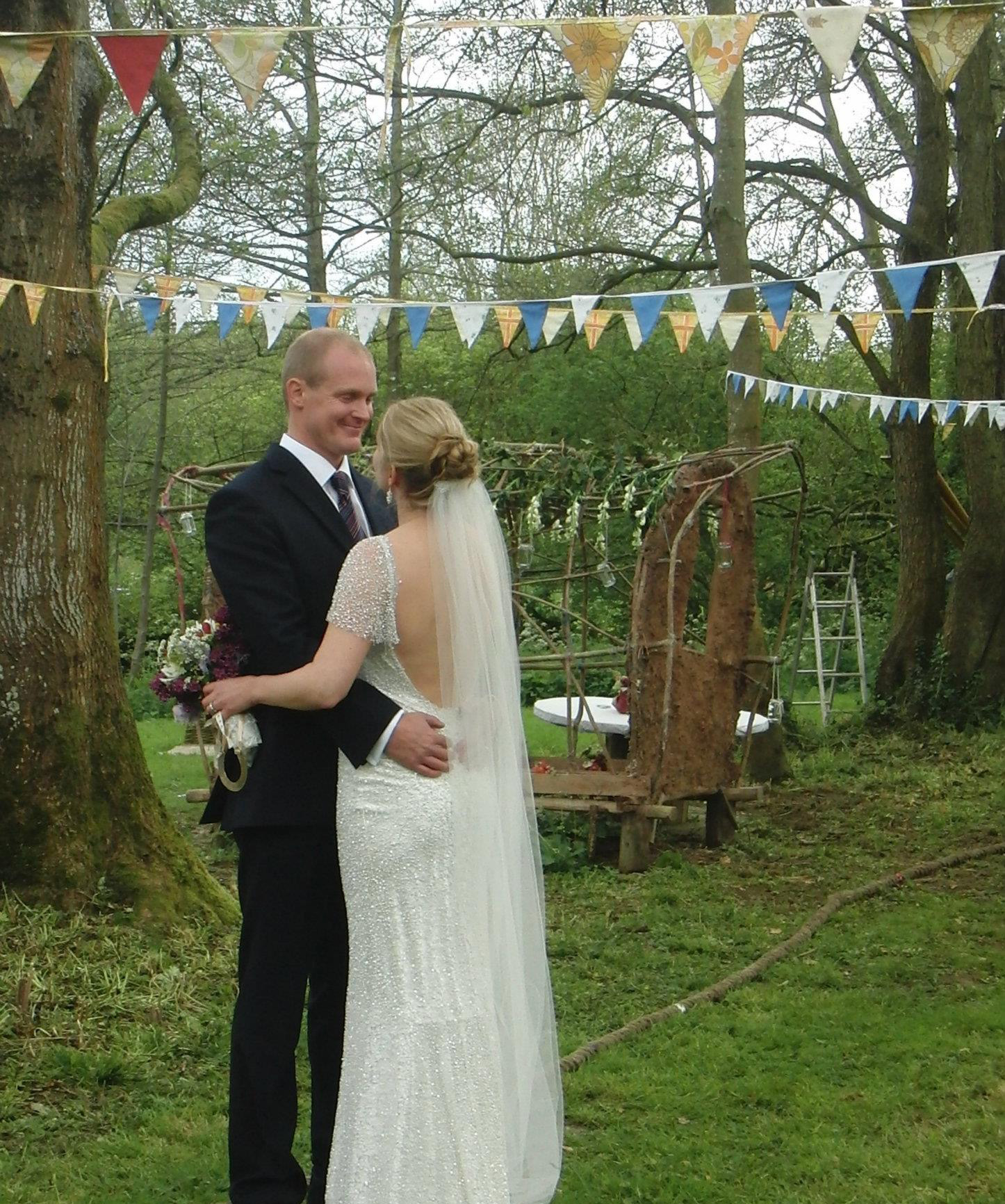 Festival wedding vintage dorset