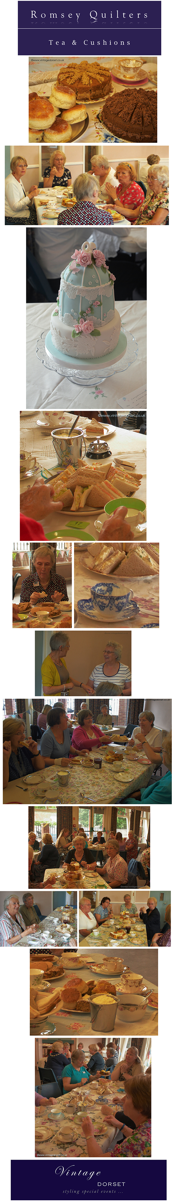 Romsey Quilters Afternoon Tea Vintage Dorset