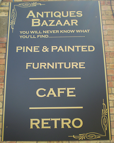 Antiques Bazaar sign, Crewkerne