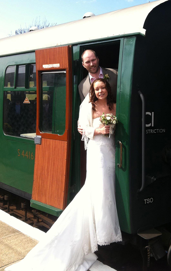 Wedding steam train