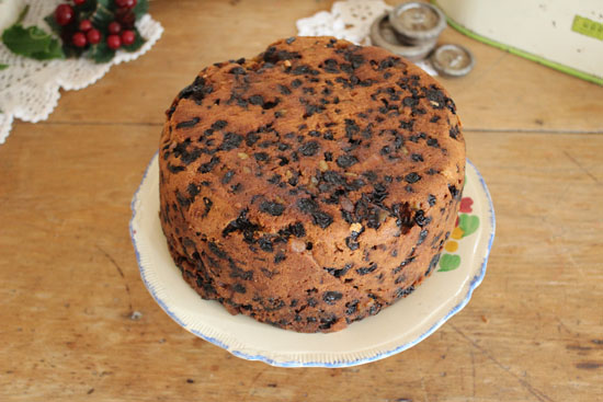 Christmas cake awaiting decoration