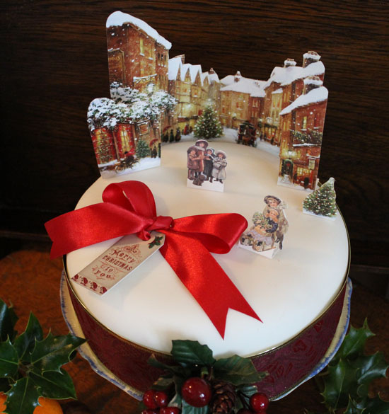 Finished Christmas cake at Vintage Dorset