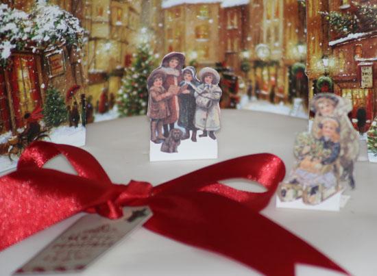 Close up of Vintage Dorset Christmas cake