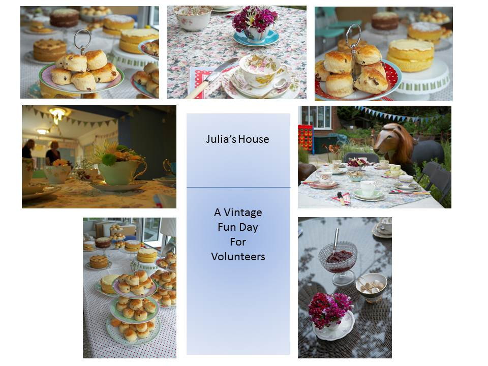 Julia's House vintage cream tea for volunteers - Vintage Dorset