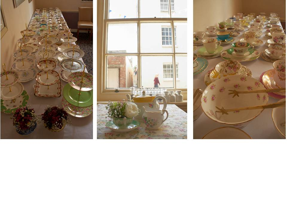 Christening Flowers and china from Vintage Dorset